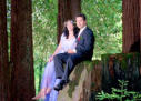 Santa Cruz Hills Park Wedding Photography Couple on Tree _01